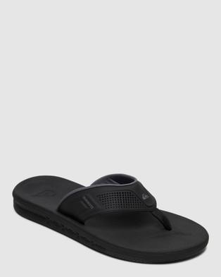 Quiksilver Mens Current Water Friendly Sandal - Thongs (BLACK/GREY/BROWN)