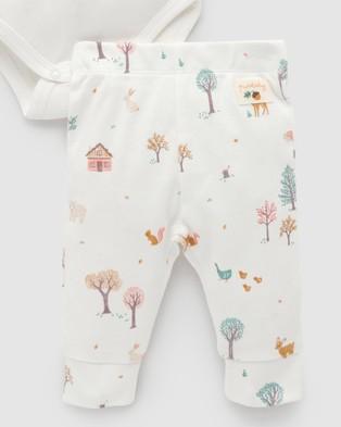 Purebaby 3 Piece Gift Pack Babies Headwear Boy's Woodland Print