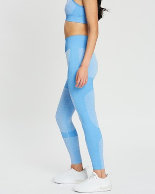 Doyoueven Impact Seamless Leggings - Full Tights (Sky Blue)