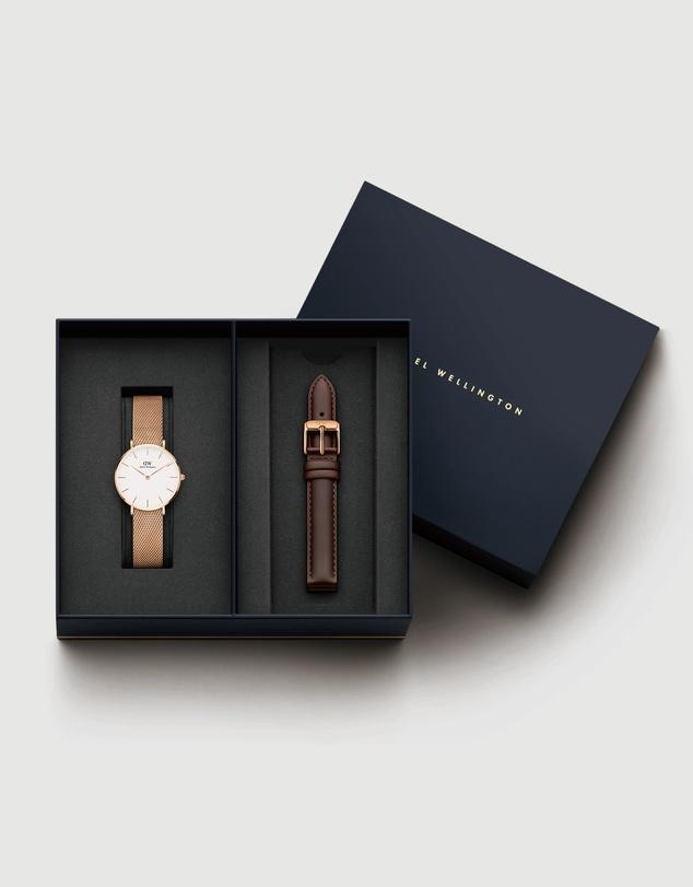 Women Gift Set - Petite Melrose 32mm + Leather Bristol Strap