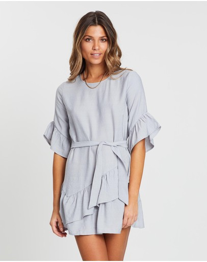 White By Ftl Carla Dress Grey