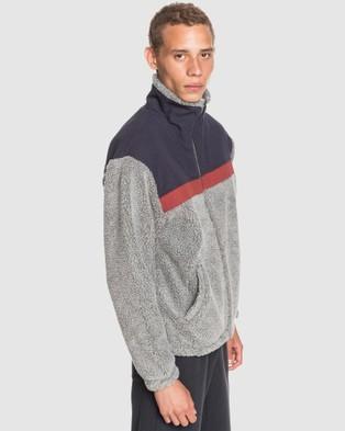 Quiksilver Mens Bogong Gum Half Zip Pop Corn Sherpa Jacket - Hoodies (PARISIAN NIGHT)