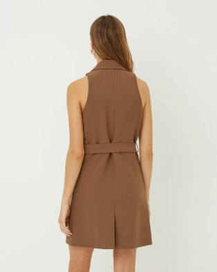 FRIEND of AUDREY Harley Trench Dress - Bodycon Dresses (Taupe)