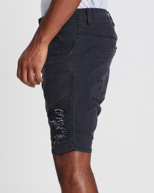 Silent Theory Outlaw Shorts - Denim (WASHED BLACK)