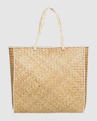 Roxy Indigo Night Beach Tote Bag - Bags (Natural)
