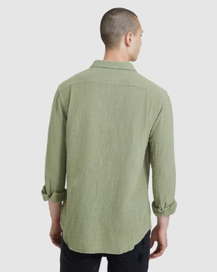 Insight Louie Long Sleeve Shirt - Shirts & Polos (GREEN)
