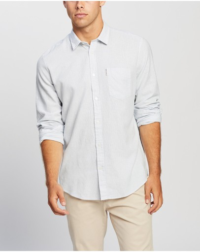 Ben Sherman - LS Linen Blend Houndtooth Shirt