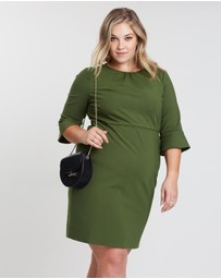 J.Crew Curvy - Bell Sleeve Ponte Dress
