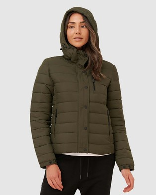 Superdry Classic Fuji Padded Jacket - Coats & Jackets (Forest Green)