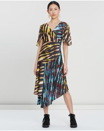 House of Holland - Mixed Tie Dye Midi Dress