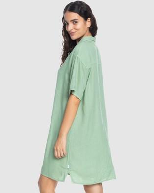 Quiksilver Quiksilver Womens Short Sleeve Shirt Dress - Dresses (Sage)