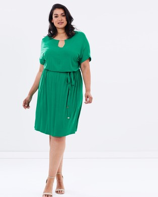DP Curve – Jersey Midi Dress with Neck Bar