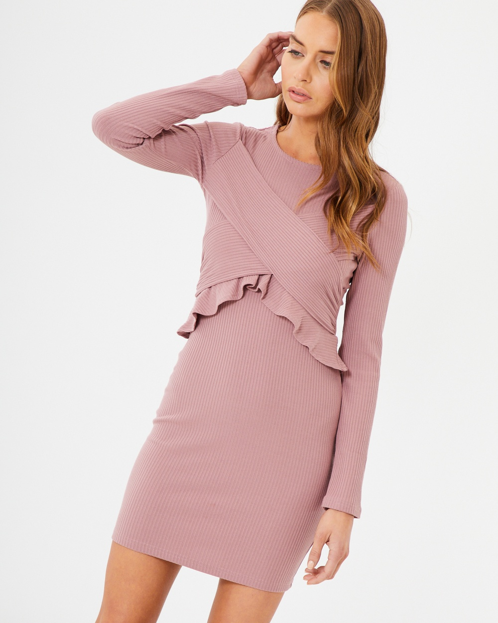 Tussah Susanna Knit Dress Bodycon Dresses Dusty Pink Susanna Knit Dress