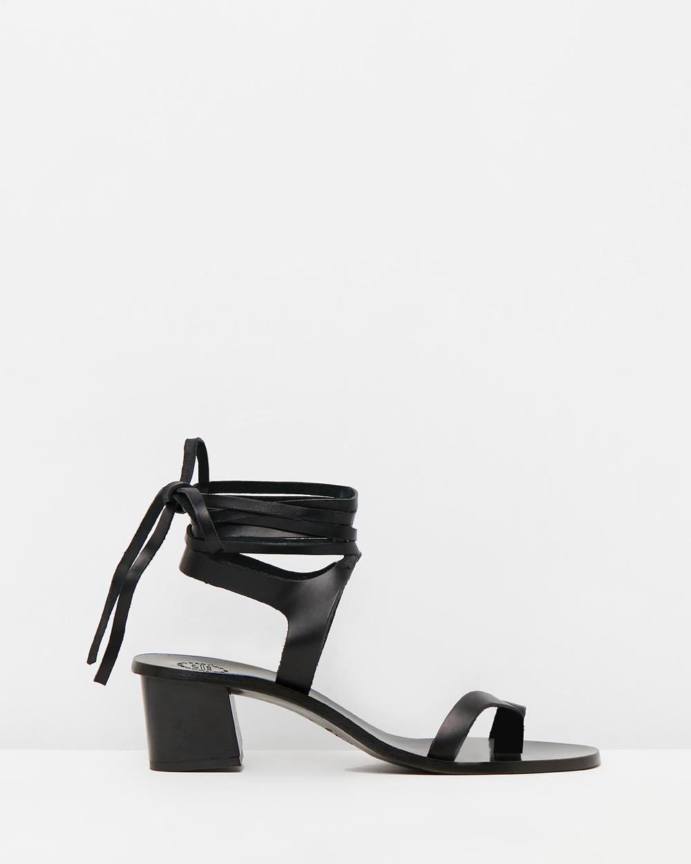 ATP Atelier Canda Mid-low heels Black Vachetta Canda