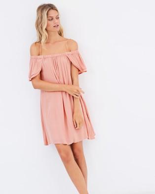 SHILLA THE LABEL – Dolce Off Shoulder Petal Dress – Dresses (Rose Blush)