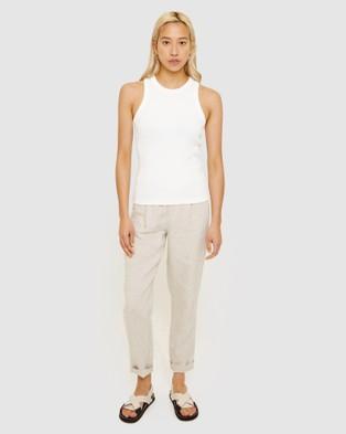 Jag Organic Cotton Rib Tank - T-Shirts & Singlets (white)