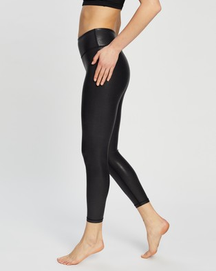 Dharma Bums - Twilight Metallic 7 8 Leggings 7/8 Tights (Black) 7-8