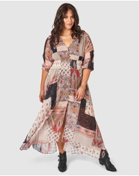 The Poetic Gypsy - Little Lies Paisley Print Maxi Dress