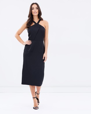3rd Love – Simplistic Black Cross Halter Dress – Dresses (Black)