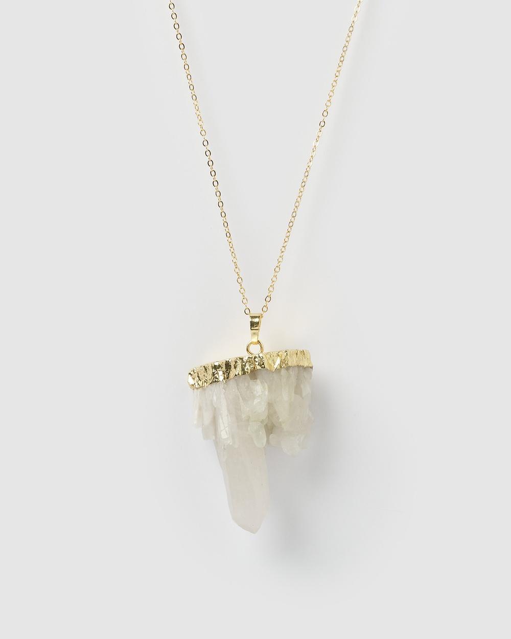 Miz Casa and Co Glacier Necklace Jewellery Clear Quartz