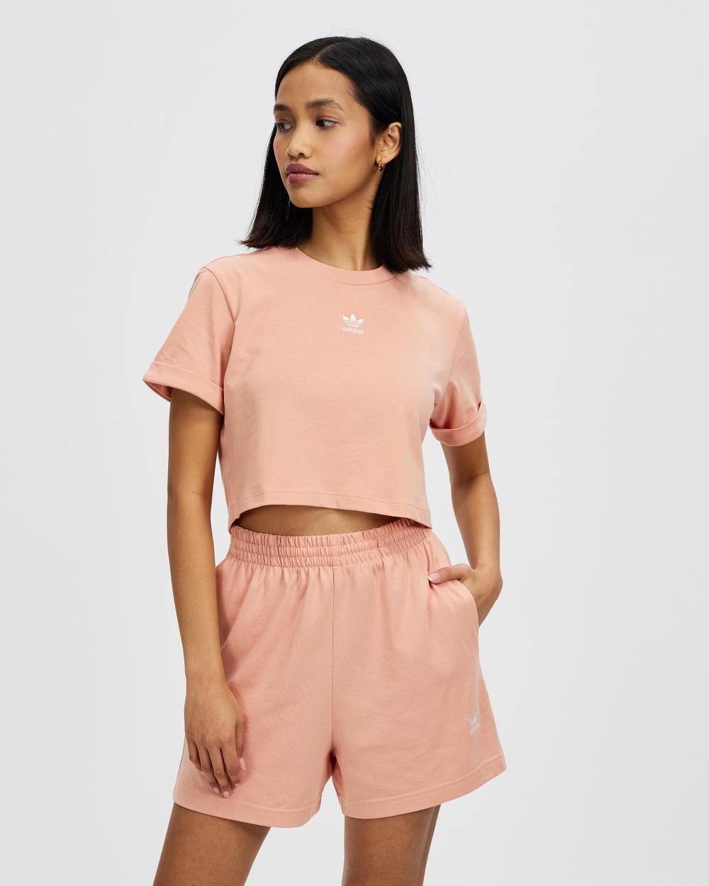 adidas Originals Adicolor Essentials Cropped Tee T-Shirts & Singlets Ambient Blush