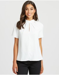Willa - Alexandra Tuck Neck Top