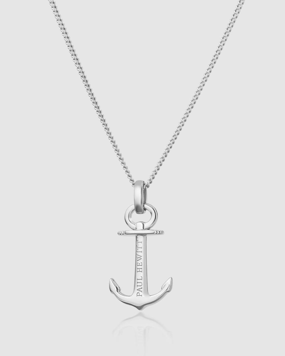 Paul Hewitt Anchor Spirit Necklace Jewellery Silver