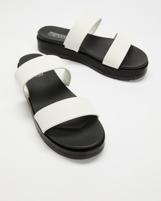 Therapy Slidin - Sandals (White)