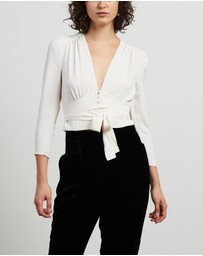 REISS - Alena Plunge Plain Blouse