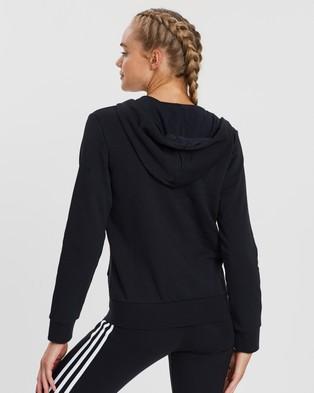 adidas Performance Essentials Linear Full Zip Hoodie - Hoodies (Black & White)