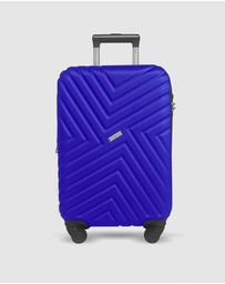 JETT BLACK - Royal Blue Carry On Suitcase