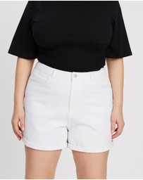 Mika Muse - Hattie High-Waisted Roll Hem Shorts