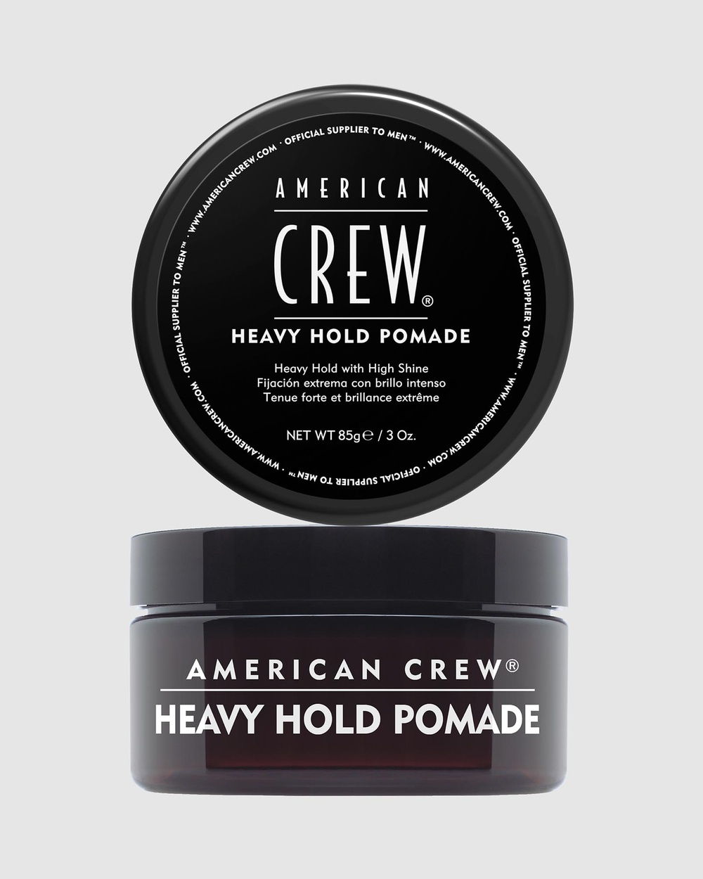 American Crew Heavy Hold Pomade 85g Beauty Brown & Black