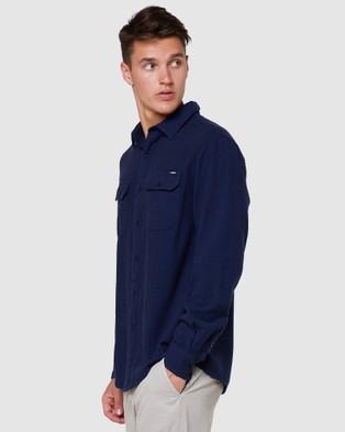 Elwood Devon Ls Shirt - Shirts & Polos (Navy)