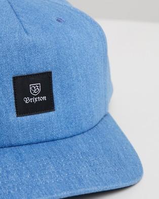 Brixton Main Label II Snapback - Headwear (Denim)