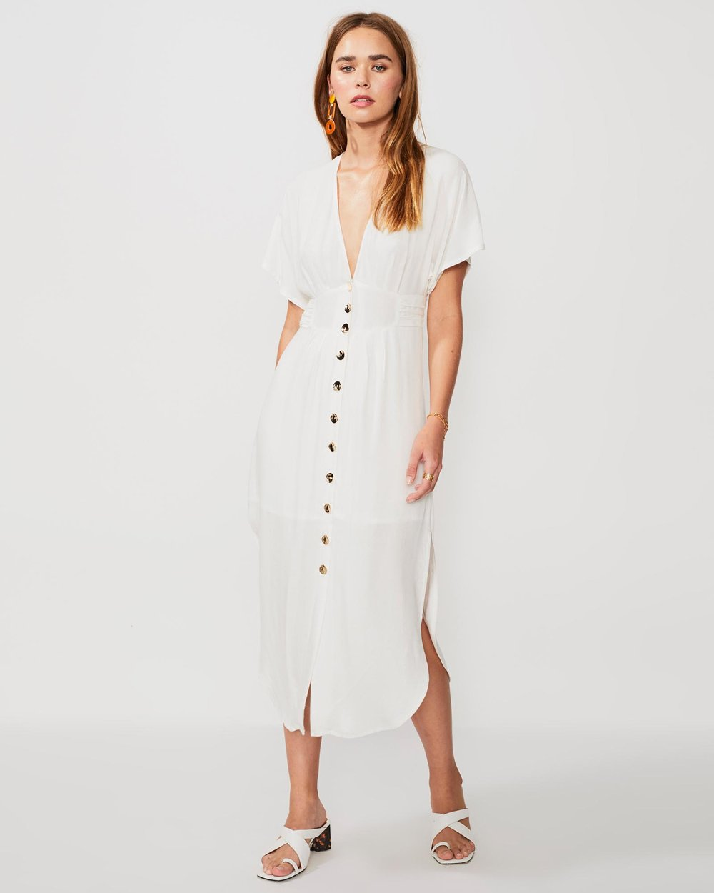 add7b2e98616 Nadia Button-Front Midi Dress by Suboo Online | THE ICONIC | Australia
