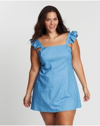 Atmos&Here Curvy - Belize Frill Strap Mini Dress