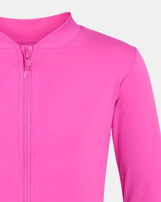 Escargot Zip Up Long Sleeve Suntop  - Swimwear (Hot Pink)
