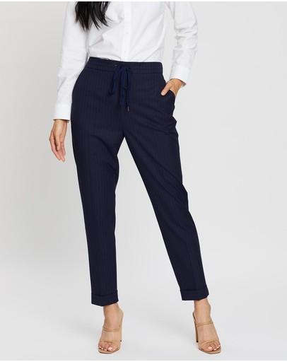 Sportscraft Isabella Stripe Pants Navy & White