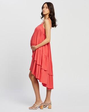 Bump Love Maternity - Alissa Ruffle Dress Dresses (Calypso Coral)