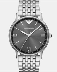 Emporio Armani - Silver-Tone Analogue Watch