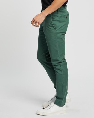 Polo Ralph Lauren Bedford Flat Stretch Slim Pants - Pants (Washed Forest)