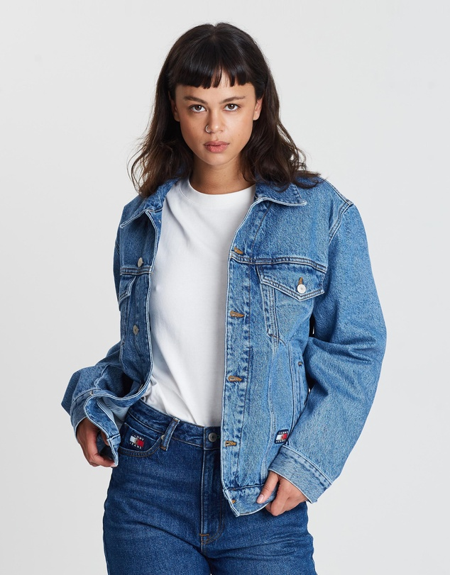 Tommy Jeans - Crest Flag Trucker Jacket - Women's