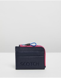 Scotch & Soda - Coin Wallet With Logo Embossment