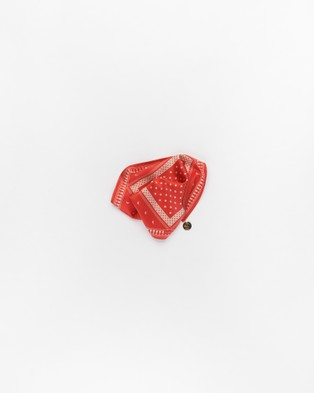 The Wolf Gang Petite Lune Silk Scarf - Hair Accessories (Red)