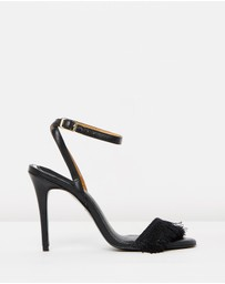 Jaggar The Label - Fringe Leather Stilettos