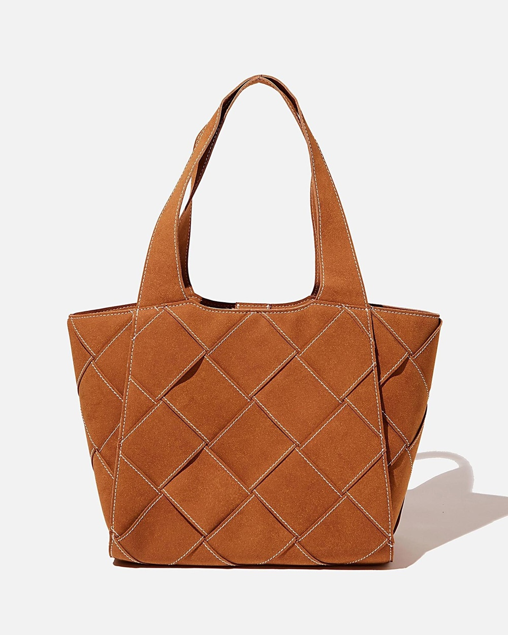 Rubi Soft Woven Tote Handbags Tan