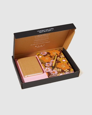 Typo Premium Notebook Gift Set - All Stationery (Pink & Floral)