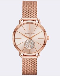 Michael Kors - Portia Rose Gold-Tone Analogue Watch
