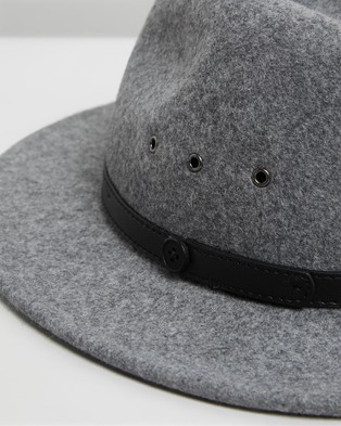 Billy Bones Club The Shadow Grey Fedora - Hats (Grey)
